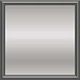 Silver metal framed plaque Stock Photos