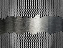 Silver metal grate background Stock Images