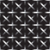 Silver metal grid on black background Royalty Free Stock Photography