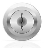 Silver metal keyhole vector illustration Royalty Free Stock Photos