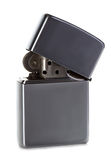 Silver metal lighter isolated Stock Photo