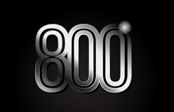 Silver metal number 800 logo icon design. Silver metal number 800 logo design suitable for a company or business vector illustration