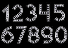 Silver metal numbers Royalty Free Stock Images