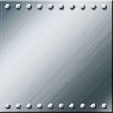 Silver metal plate background Royalty Free Stock Photo