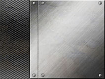 Silver metal plate background Stock Image