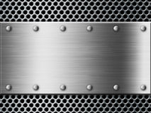 Silver metal plate background Royalty Free Stock Image