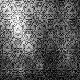 Silver metal plate with classic ornament .Vintage collection Royalty Free Stock Images