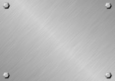 Silver Metal Plate Stock Image