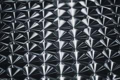 Silver metal reflective circle spin brush pattern texture. Stock Photo