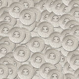 Silver metal sewing buttons Stock Photo