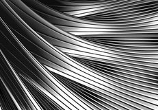Silver metal shiny abstract. 3d background illustration Royalty Free Stock Image