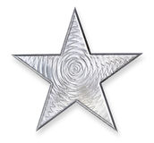 Silver Metal Star. Silver metallic star with 3D texture mapping Royalty Free Stock Images