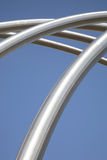 Silver Metal Stucture. Silver metal structure on blue sky background Stock Images