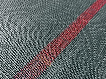 Silver metal surface with marked red line, Royalty Free Stock Images