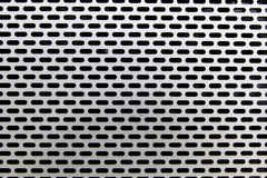 Silver Metal texture and circle hole Stock Image