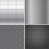 Silver Metal Textures Stock Images