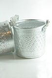 Silver Metal Tiffin, Food Container Royalty Free Stock Photo