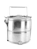 Silver Metal Tiffin, Food Contner Stock Photo