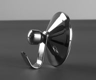 Silver metal towel hanger. S, front view Royalty Free Stock Photography
