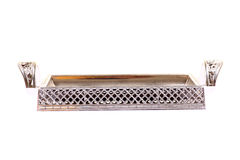 Silver metal tray Stock Photography