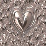 Silver metal valentines hearts vector illustration