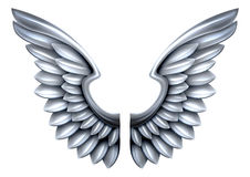 Silver Metal Wings Stock Images