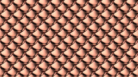 Silver metallic armor scales . Royalty Free Stock Images