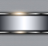Silver metallic background Royalty Free Stock Image