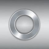 Silver metallic circular border Stock Photos