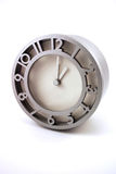 Silver Metallic Clock Stock Photography