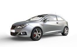 Silver Metallic Compact Modern Car Stock Photography