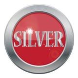 Silver Metallic Icon Design With Sparkle. A silver icon isolated on a white background Stock Photos