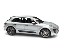 Silver metallic modern family car - studio shot Stock Photo