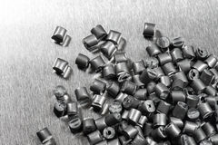 Silver metallic polymer Stock Image