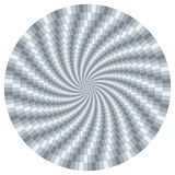 Silver metallic rotating motion optical illusion background. Texture royalty free illustration
