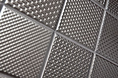 Silver metallic steel background Stock Images