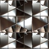 Silver metallic surface Stock Photography