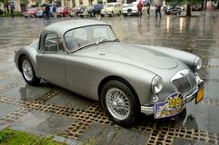 Silver MGA 1500 coupe Royalty Free Stock Photo