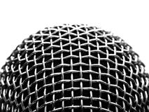 Silver microphone Royalty Free Stock Image