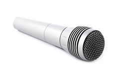 Silver microphone. Isolated on white background royalty free stock photography