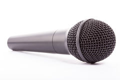 Silver microphone. Isolated on white royalty free stock photos