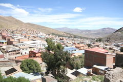 Silver mines of Potosi Bolivia. Ivew of the city Royalty Free Stock Image