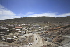 Silver mines of Potosi Bolivia Royalty Free Stock Images