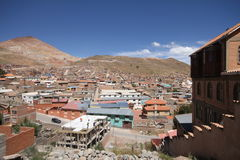 Silver mines of Potosi Bolivia. View of city Stock Photo