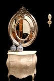 Silver mirror Stock Photo