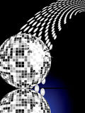 Silver mirror ball Stock Images