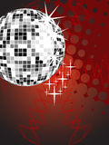 Silver mirror ball Stock Image