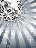 Silver mirror ball Royalty Free Stock Images