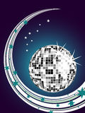 Silver mirror ball Stock Photos