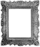 Silver Mirror Frame Cutout Stock Image